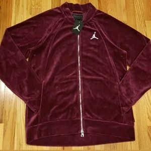 26c082fca9d8f9 Jordan Jackets   Coats - Jordan Men s Velour Jacket Bordeaux Ah2357 609